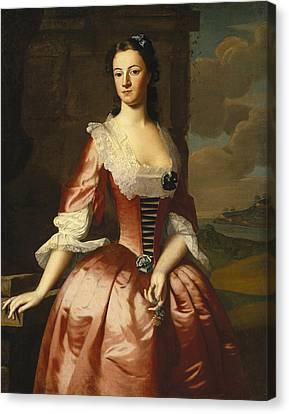Portrait Of A Woman Canvas Print by Robert Feke