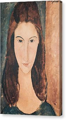 Portrait Of A Young Girl Canvas Print by Amedeo Modigliani