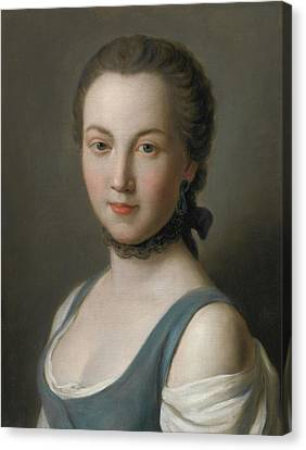 Portrait Of A Young Lady Canvas Print by Pietro Antonio