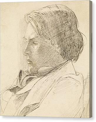 Portrait Of A Young Man Canvas Print by Dante Gabriel Rossetti