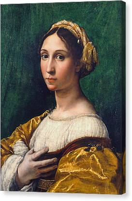Portrait Of A Young Woman Canvas Print by Raphael