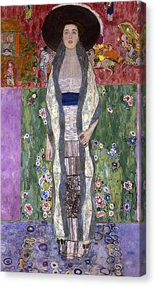 Portrait Of Adele Bloch-bauer II Canvas Print by Gustav Klimt