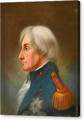 Portrait Of Admiral Lord Nelson Canvas Print by John Whichelo
