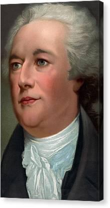 Portrait Of Alexander Hamilton Canvas Print by Unknown
