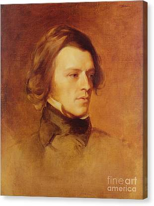 Portrait Of Alfred Lord Tennyson Canvas Print by Samuel Laurence