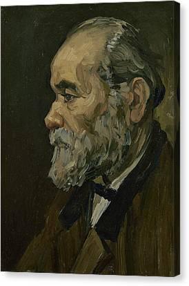 Portrait Of An Old Man Canvas Print by Vincent van Gogh