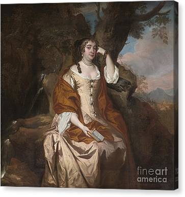 Portrait Of Anne Hyde Duchess Of York Canvas Print by Celestial Images