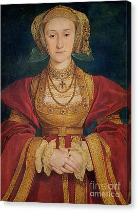 Portrait Of Anne Of Cleves  Canvas Print by Hans Holbein