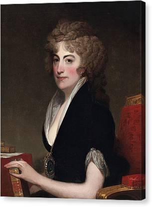 Portrait Of Anne Willing Bingham Canvas Print by Gilbert Stuart