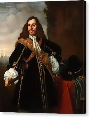 Portrait Of Captain Gideon De Wildt Canvas Print by Mountain Dreams