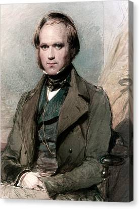 Portrait Of Charles Darwin Canvas Print by George Richmond