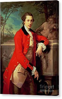 Portrait Of Edmund Rolfe Canvas Print by Pompeo Girolamo Batoni