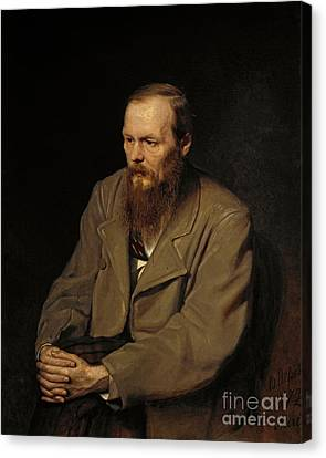 Portrait Of Fedor Dostoyevsky Canvas Print by Celestial Images
