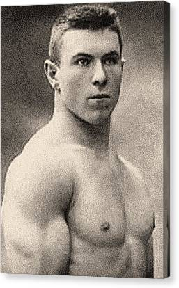 Portrait Of George Hackenschmidt Canvas Print by English School