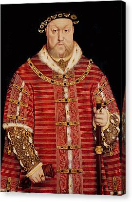 Portrait Of Henry Viii Canvas Print by Hans Holbein the Younger