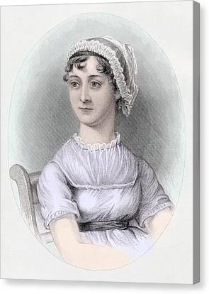 Portrait Of Jane Austen Canvas Print by Cassandra Austen