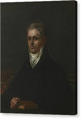 Portrait Of Jose Munarriz Canvas Print by Francisco Goya