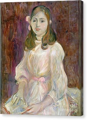 Portrait Of Julie Manet Canvas Print by Berthe Morisot