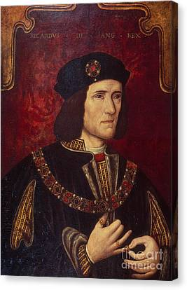 Portrait Of King Richard IIi Canvas Print by English School