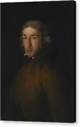 Portrait Of Leandro Fernandez Moratin Canvas Print by Francisco Goya