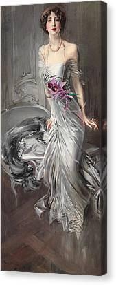 Portrait Of Madame Eugene Doyen Canvas Print by Giovanni Boldini