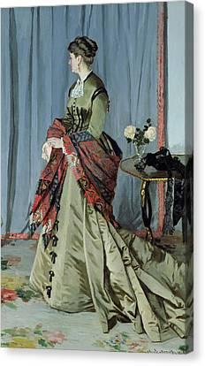 Portrait Of Madame Louis Joachim Gaudibert Canvas Print by Claude Monet