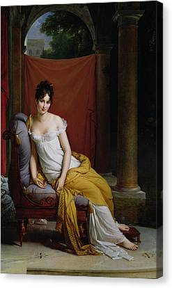 Portrait Of Madame Recamier Canvas Print by Francois Pascal Simon Gerard