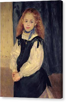 Portrait Of Mademoiselle Legrand Canvas Print by Pierre Auguste Renoir