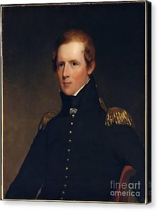 Portrait Of Major John Biddle Canvas Print by Celestial Images