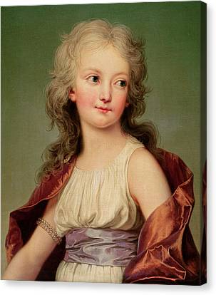 Portrait Of Marie-therese Charlotte Of France Canvas Print by Adolf Ulrich Wertmuller