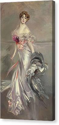 Portrait Of Marthe Regnier Canvas Print by Giovanni Boldini