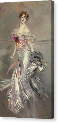Portrait Of Marthe Regnier Canvas Print by Giovanni Boldini