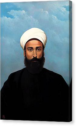 Portrait Of Mohamed Darouich Al Allousi Canvas Print by Mountain Dreams