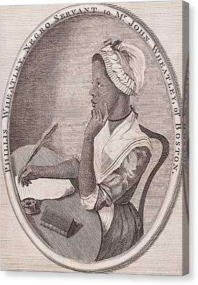 Portrait Of Phillis Wheatley Canvas Print by American School