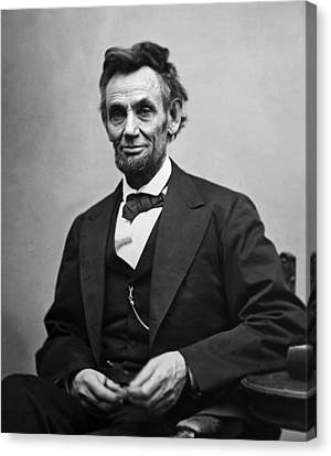 Portrait Of President Abraham Lincoln Canvas Print by International  Images