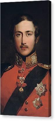 Portrait Of Prince Albert Canvas Print by John Lucas
