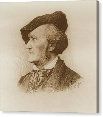 Portrait Of Richard Wagner Canvas Print by Robert Reyher