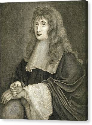 Portrait Of Sir Isaac Newton Canvas Print by Sir Peter Lely