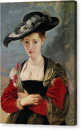 Portrait Of Susanna Lunden Canvas Print by Peter Paul Rubens