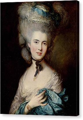 Portrait Of The Duchess Of Beaufort Canvas Print by Thomas Gainsborough
