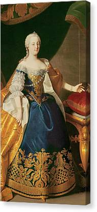 Portrait Of The Empress Maria Theresa Of Austria Canvas Print by Martin Mytens or Meytens