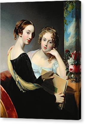 Portrait Of The Mceuen Sisters Canvas Print by Thomas Sully