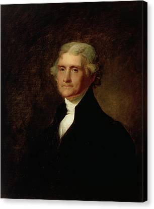 Portrait Of Thomas Jefferson Canvas Print by Asher Brown Durand
