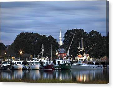 Portsmouth Fish Pier Canvas Print by Eric Gendron