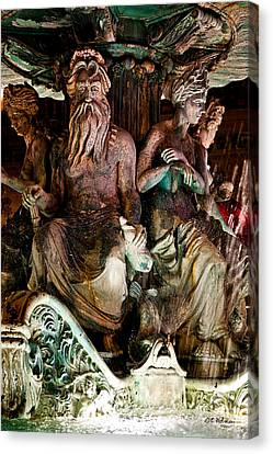 Poseidon And Friends Canvas Print by Christopher Holmes