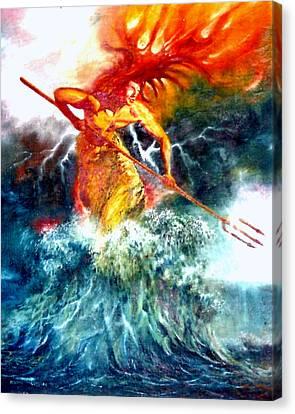 Poseidon Canvas Print by Henryk Gorecki