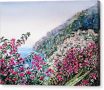 Positano Italy Canvas Print by Irina Sztukowski