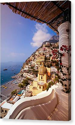 Positano View Canvas Print by Neil Buchan-Grant