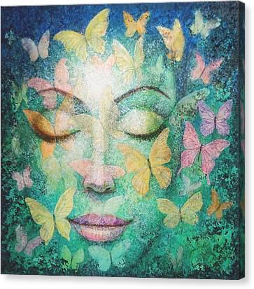 Possibilities Meditation Canvas Print by Sue Halstenberg