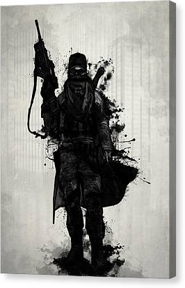 Post Apocalyptic Warrior Canvas Print by Nicklas Gustafsson